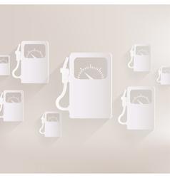 Gas fuel station icon vector image