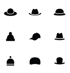 hats 9 icons set vector image vector image