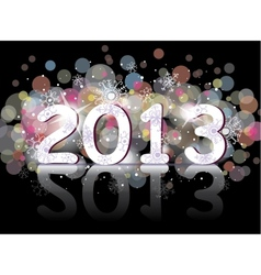 New year 2013 two thousand and thirteen vector image