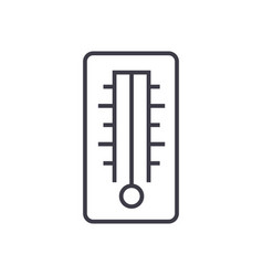 thermometer line icon sign vector image