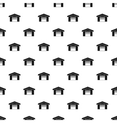 Warehouse building pattern simple style vector image