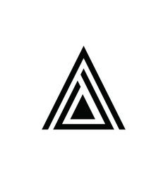 a letter triangle logo vector image