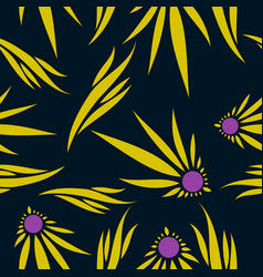 Abstract flower pattern vector