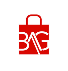 abstract letter bag on shopping bag vector image