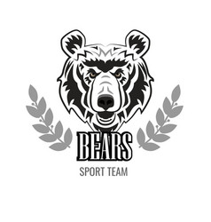 angry bear mascot for esport and gaming logo vector image