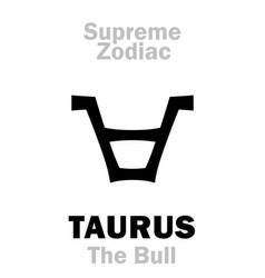 Astrology supreme zodiac taurus the bull vector