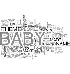 baby shower idea text word cloud concept vector image