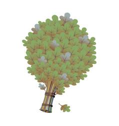 bath broom vector image