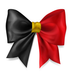 big bow in belgium flag colors vector image