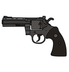 Black big revolver vector