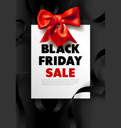 black friday sale dark promotional poster with red vector image