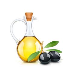 Black olive oils bottle vector