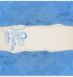 Blue Christmas background with decorations vector