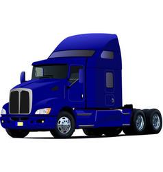 blue truck lorry 3d vector image