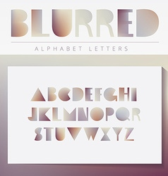 Blurred alphabet set vector image