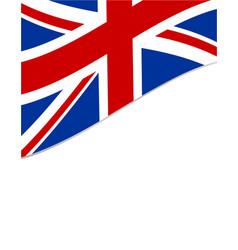 British flag frame vector