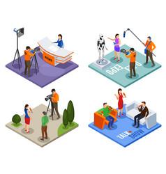 Broadcasting 2x2 design concept vector