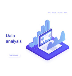 business strategy analysis data and investment vector image
