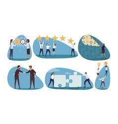 Business time management coworking set concept vector