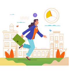 businesswoman with a briefcase in his hands are vector image