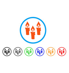 candles rounded icon vector image
