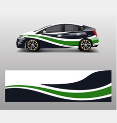 Car decal graphic abstract racing designs vector