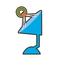 Cartoon antenna dish radar technology icon vector