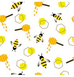 Cartoon pattern bee wasp vector