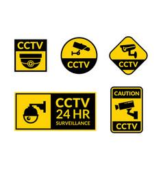 cctv camera icon security video sign cctv vector image