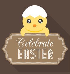celebrate easter typographical background vector image