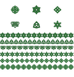 celtic knots borders and icons vector image