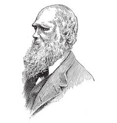 charles darwin vintage vector image