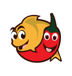 Chili fish vector
