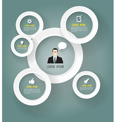 Circle modern with business man icon vector