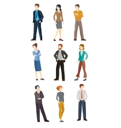 Collection of business people vector image