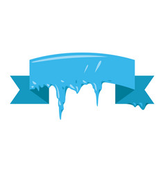 collection of frozen icicle snow winter vector image