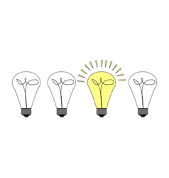 Creative light bulb symbol with gear sign and vector