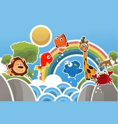 cute animal wallpaper vector image