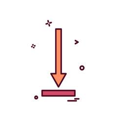down arrow icon design vector image