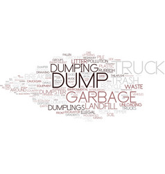 Dumping word cloud concept vector