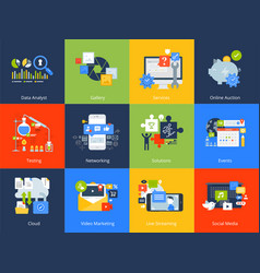Flat design concept icons vector
