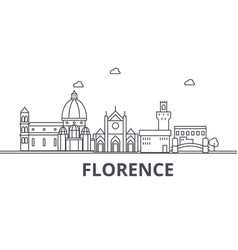 Florence architecture line skyline vector