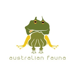 frog with head in form of australian map vector image