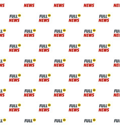 Full news pattern seamless vector