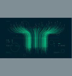 Futuristic technology big data sorting vector