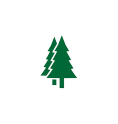green pine tree logo icon design template vector image