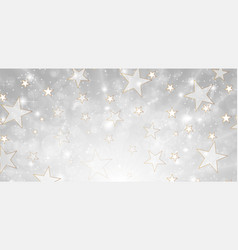 Grey and gold deluxe background with stars and vector