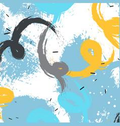 grunge expressive brushes splash modern vector image