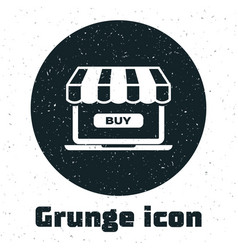 grunge online shopping concept buy on screen vector image