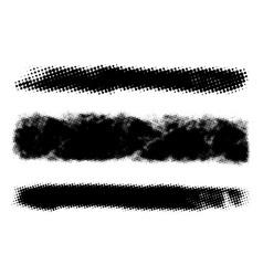 halftone stripe banner vector image